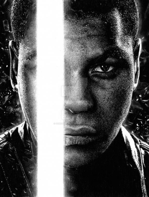 Finn - Star Wars The Force Awakens by Chrisbakerart