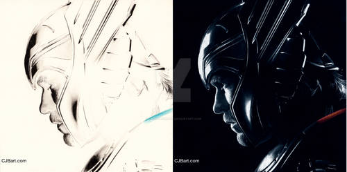 Inverted drawing of Thor