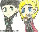 Loki and Thor chibis