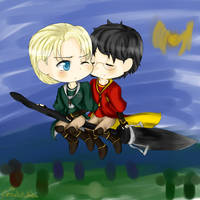 drarry quidditch by ThePastelHobbit