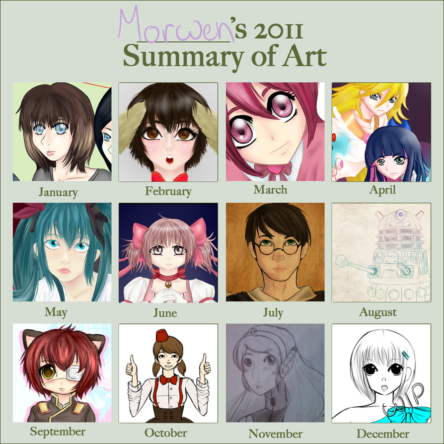 2011 summary of art by MorwenHelyanwe