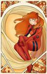 Asuka Langley art nouveau