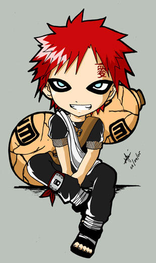another gaara chibi by gaarakun