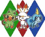 Pokemon Gen 8 Starters