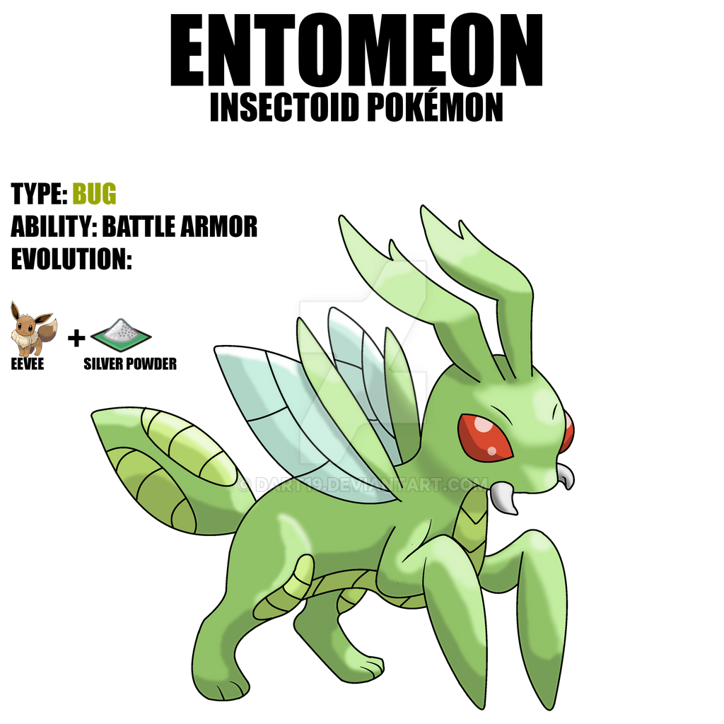 ENTOMEON Eevee evolution Bug Type by DArt19 on DeviantArt