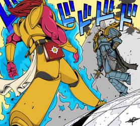 Magnus vs Russ (warhammer 40k JoJo reference)