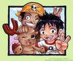 Straw Hat Kiddy trio