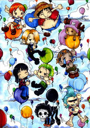 One Piece - balloons by KeyshaKitty