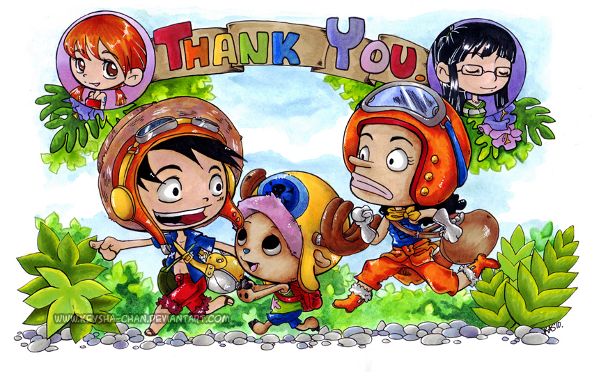 One Piece - Thank You by KeyshaKitty