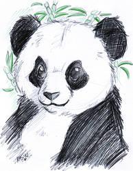 Panda - Brio pen by KeyshaKitty