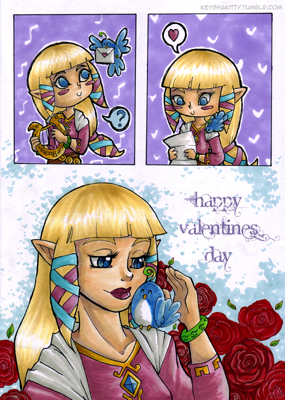 LoZ:SS - Valentines 2013 by KeyshaKitty