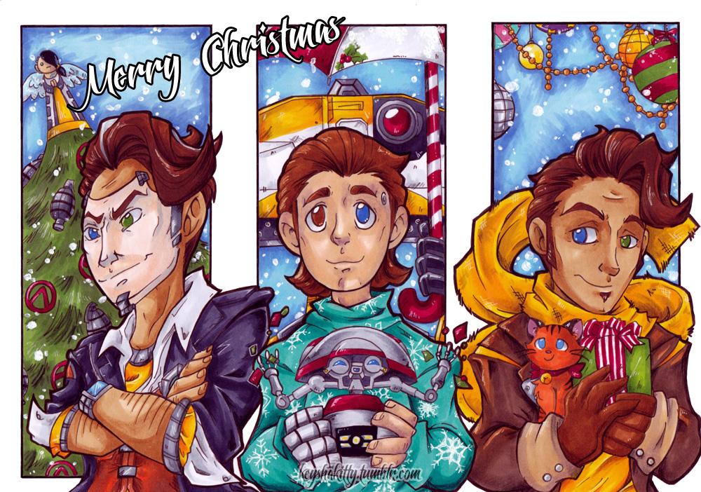 BL - Christmas Postcards by KeyshaKitty