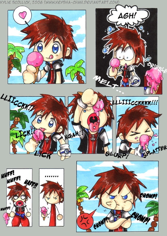 Sora+Icecream - KH Comic by KeyshaKitty
