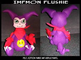 Impmon Plushie by KeyshaKitty