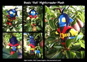 Basic Nightcrawler plush by KeyshaKitty