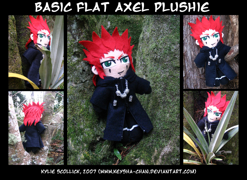 Basic 'flat' Axel Plushie by KeyshaKitty
