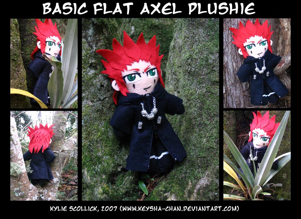 Basic 'flat' Axel Plushie by KeyshaKitty