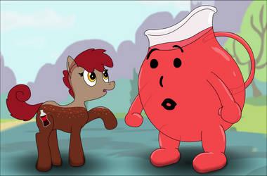 Coke-Pony meets a 'Man' by UltraTheHedgetoaster