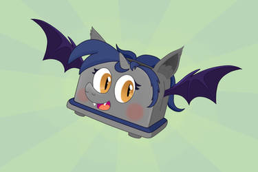 Alicorn Batpony Toaster by UltraTheHedgetoaster