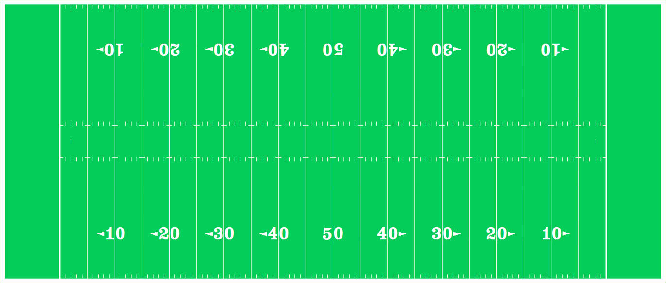 An American Football Field Diagram  Nfl Mode  By