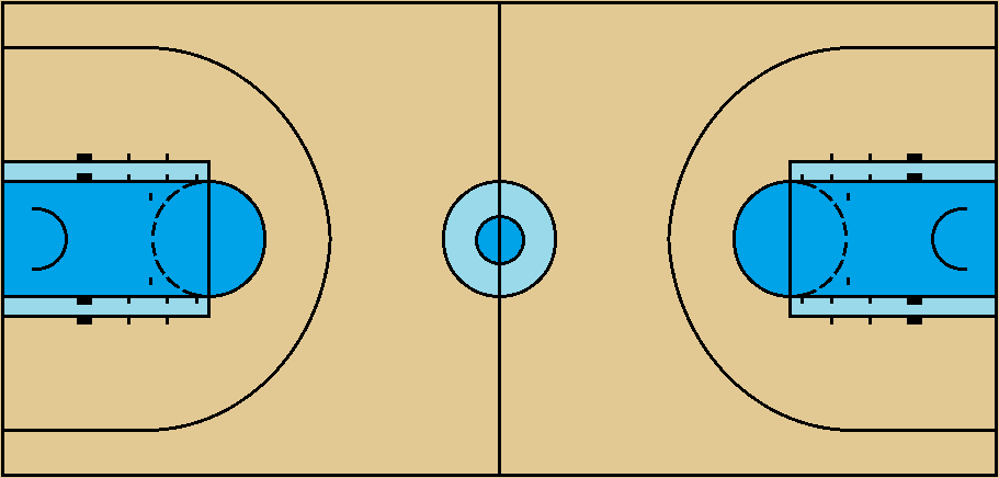 Basketball Court Diagram (NBA-spec) by FromEquestria2LA