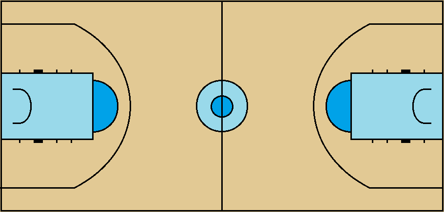 FIBA (international) Basketball Court, since 2010 by FromEquestria2LA