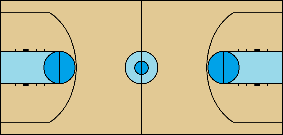 NCAA-spec Basketball court by FromEquestria2LA