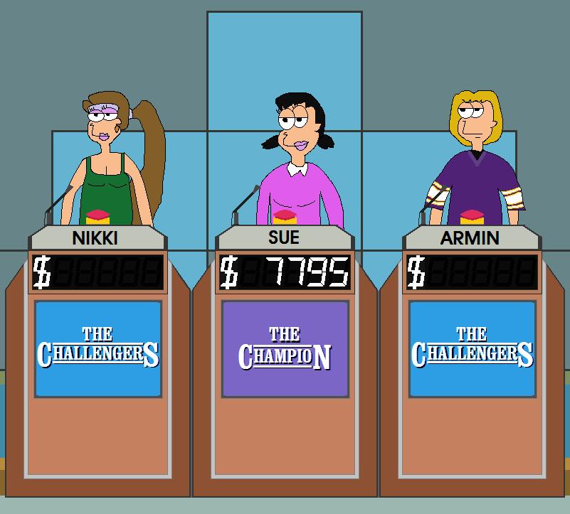 The Challengers - Nikki vs Sue vs Armin by FromEquestria2LA