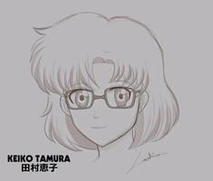 His Lie in April fanart #5- Keiko Tamura