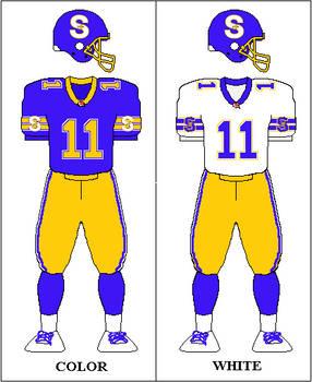 Seattle Aviators - CFL uniform concept 1994-95