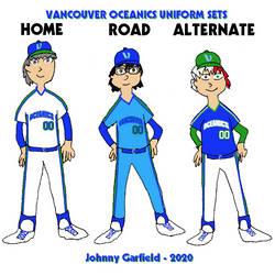 Vancouver Oceanics hypothetical uniform sets