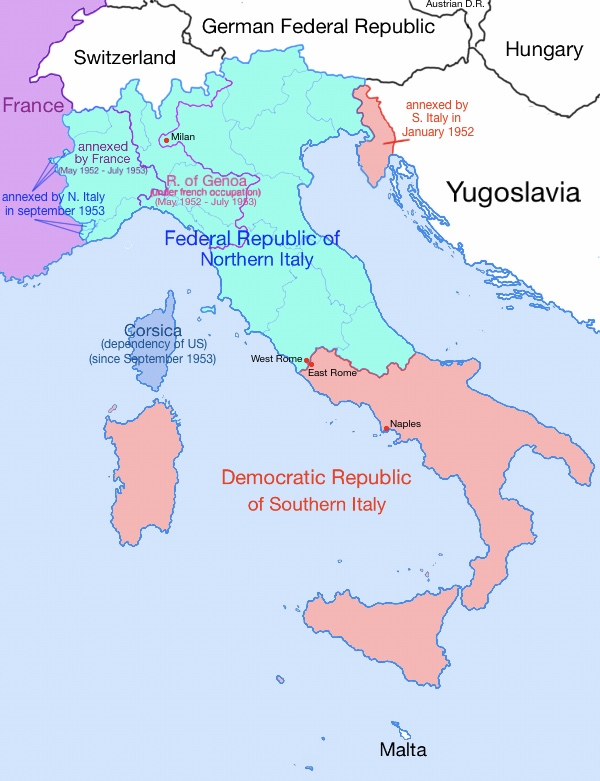 Map Of France N Italy.Italy Divided V2 0 By Lorec10 On Deviantart
