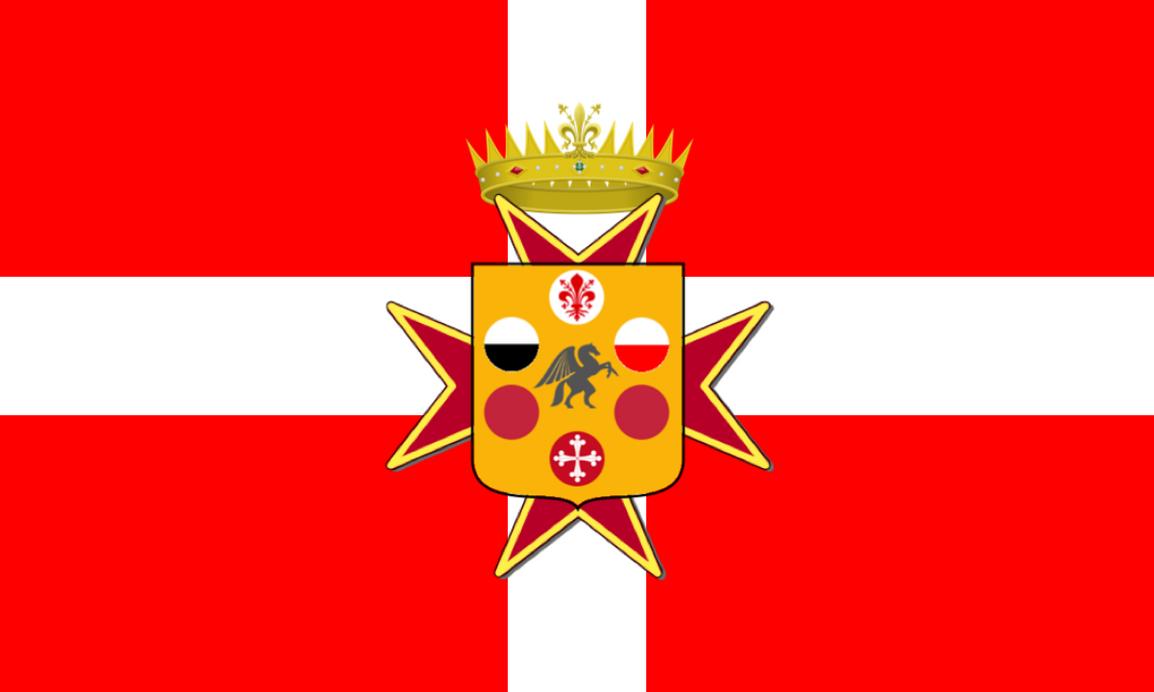 Alt. Flag for Tuscany (Medici + Civic symbols) by LoreC10