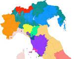 Northern Italy 1713 VS modern borders
