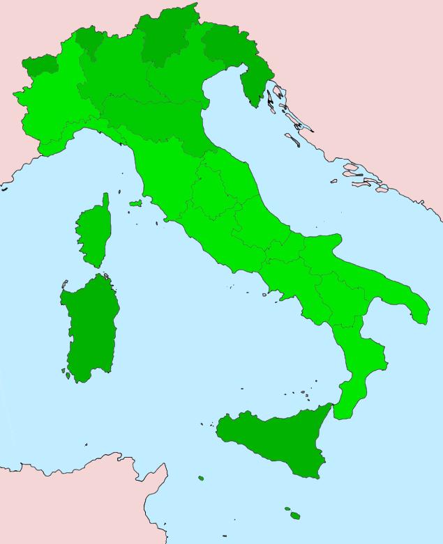 Autonomous Regions in Italy by LoreC10
