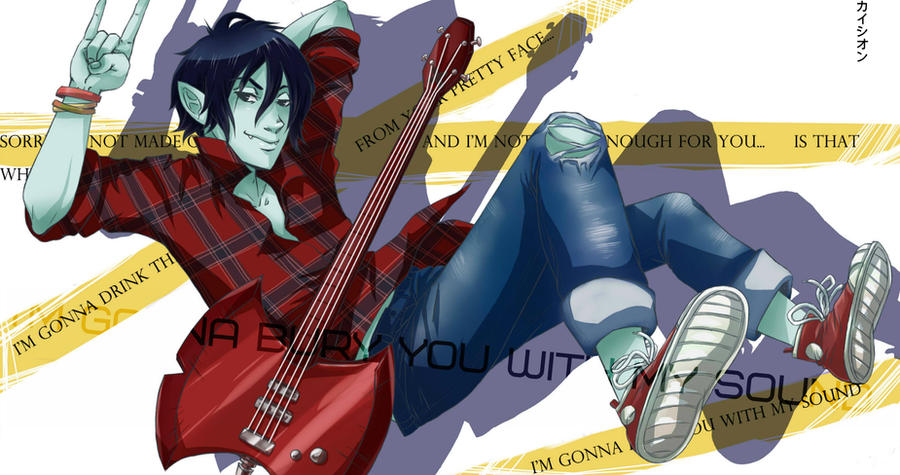 I'm gonna bury you with my sound. Marshall Lee by ShionKai