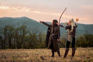Aragorn x Legolas cosplay by the-ALEF