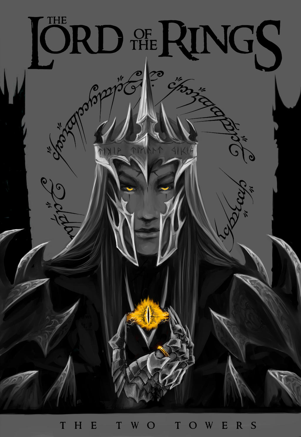 Lotr Book Cover Art : The dark lord lotr book cover by alef on deviantart