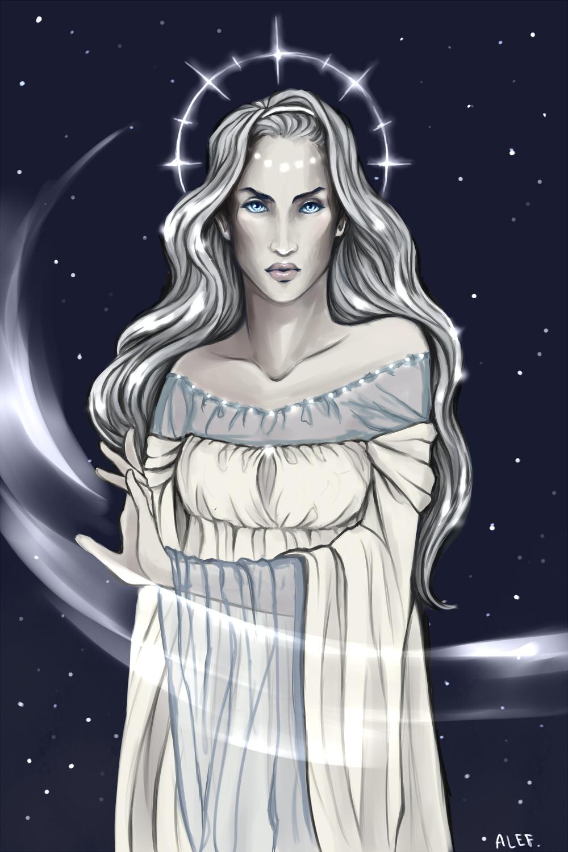 Varda Elentari. Elbereth Gilthoniel. by the-ALEF