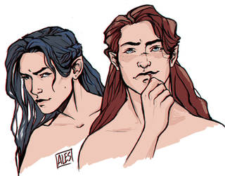 Maedhros and Fingon by the-ALEF
