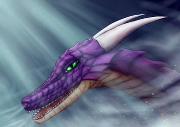 Nova's dragon glare by MisterDuwang
