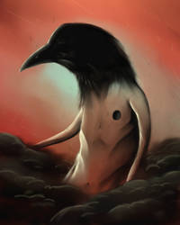 The crow in the cloud