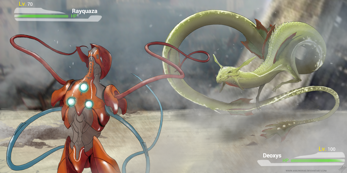 deoxys vs rayquaza by aaronshae on deviantart