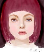 girl portrait by ashtrayxx