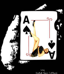 Pinup Pixie Playing Card by Morbidly-Beautiful