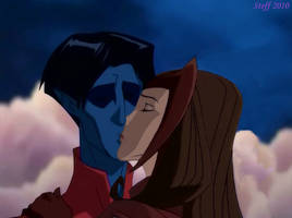 Nightcrawler and Scarlet Witch by Skellingtongirl22