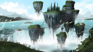 Floating castle by ANHII