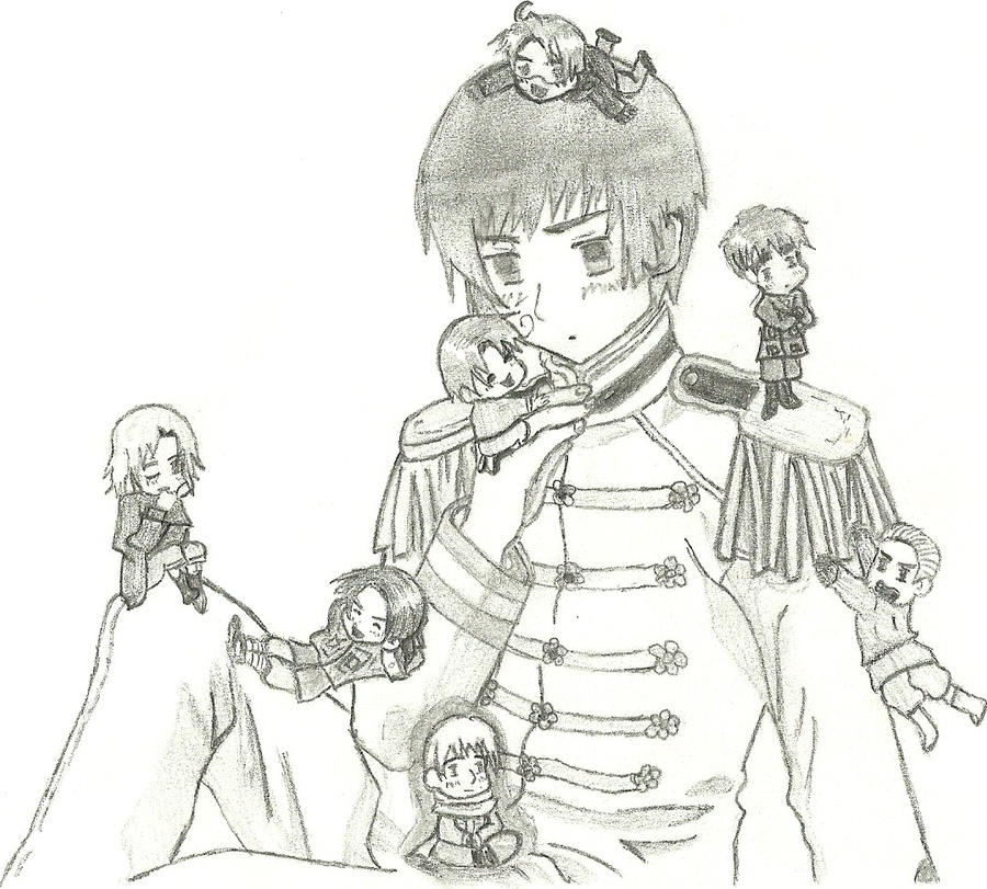 hetalia coloring pages allies - photo#16