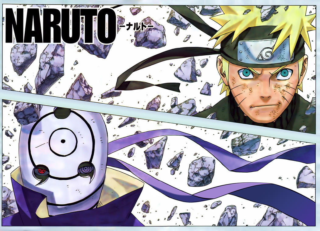 Naruto 595 color cleaning written by ulquiorra90 on deviantart for Naruto manga color pages