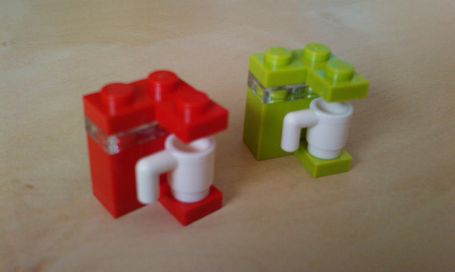Simple Lego coffee machine (choose your favourite) by MG18